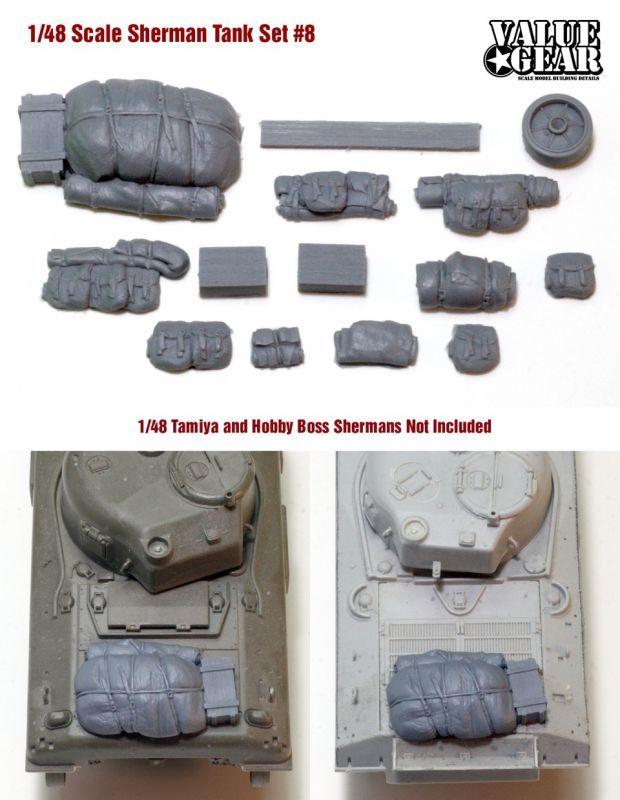 1/48 Sherman resin parts S8